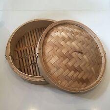 Splendido Antico Cinese in bambù intrecciato a vapore/Storage Box Ottime condizioni