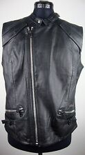G-STAR AVIATOR LEATHER VEST Women Damen Leder Weste Black Gr.L NEU mit ETIKETT