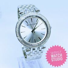 MICHAEL KORS WOMANS DARCI WATCH MK3190 SILVER GENUINE & 3YR WARRANTY