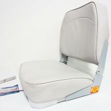 Wise New Fishing Boat Seat Chair GREY Composite Base/Bottom Fold Down