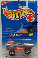 488  STING ROD GREY PINK 1996 NEW ON CARD HW HOT WHEELS