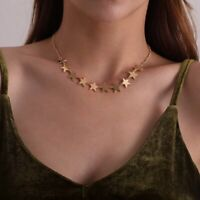 Lady Clavicle Geometric Gold Stars Punk Pendant Necklace Jewelry Gifts Fashion