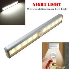 White Wireless Motion Sensor LED Light Closet Lamp Cabinet Bright Light Portable