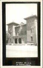 La Junta CO Otero Co Court House Real Photo Postcard