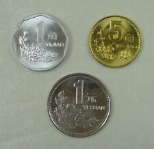 China Coin 1 jiao 5 Jiao and 1 Yuan 1999
