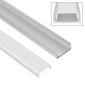 LED Profil Aluminium Leiste für Streifen Beleuchtung Kanal Profile 5x1m set