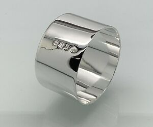 Solid Sterling Silver Antique Napkin Ring - Traditional Christening Gift