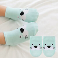Baby Socks Newborn Cotton Animal Short Anti-Slip Socks Infant Boy  Girl 0-4Years