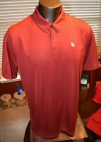 Oklahoma Sooners OU Nike Crimson Polo Shirt Mens Multiple Sizes Dri Fit New W T