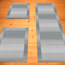 Bettumrandung Modern Schlafzimmer Grau 3 teilig 2x 67 x 140  1x 67 x 340