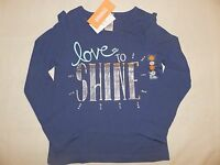 Gymboree FLIGHT OF FANCY Girls Navy Blue LOVE TO SHINE Long Sleeve Tee NWT 6 7