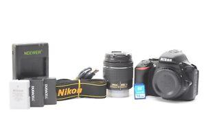 Nikon D5600 24.2MP Digital SLR Camera - Black (Kit w/ Nikon 18-55mm VR Lens)