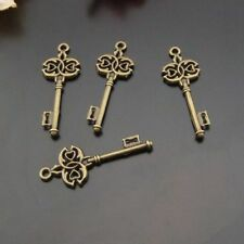 Vintage Bronze Alloy Retro Style Key Look Jewelry Making Pendants Charms 10pcs
