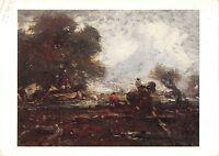 B100707 the leaping horse painting postcard john constable uk art