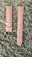new Woman 18mm Pink Baby Python Genuine Leather Interchangable Watch Band Strap