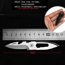 EDC Multi tool folding knife keychain bottle opener hex wrench Pocket MIni Tool