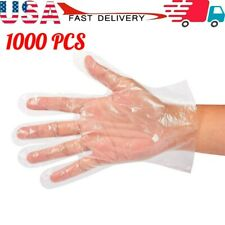 1000Pcs Food Service Plastic Gloves Home Clear PE Safety Work Gloves Transparent