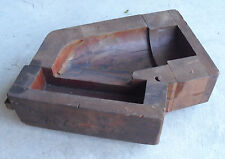RARE BIG Antique Wood Sand Cast Foundry  Industrial Mold For Pipe Part LOOK