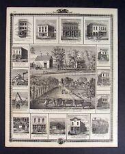 1875 Iowa Map - Atlas Farm & Business Views & Portraits