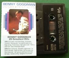 Benny Goodman 20 Greatest Hits inc King Porter Stomp + Cassette Tape - TESTED