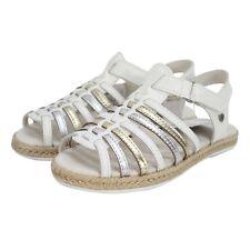 UGG Girls Gretel Open Toe Slingback Strappy Sandal White Leather Toddler Size 10