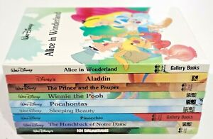 Disney Classics Lot of 9 (2) Twin Gallery Books Mouse Works Hardcover Oversized