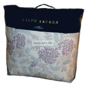 RALPH LAUREN Alessandra Ardsley Floral Cream Lavender KING COMFORTER NEW $470