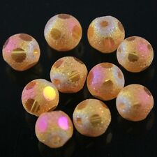 Swarovski 12 Pieces 8mm dull polish football Crystal bead 17 Colors Optional