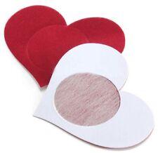 Nippies : bijou de seins , cache tétons nipples coeur rouge , accessoire sexy