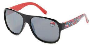 POKEMON POKEBALL Kids Age 3+ 100% UV Shatter Resistant Mirror Sunglasses NWT