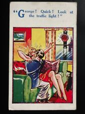 Kissing Theme: GEORGE! QUICK! LOOK RED TRAFFIC LIGHTS c1938 by H.B.Ltd 4740