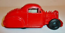 1950s MARX Plastic + Tin Friction 1930s Style HOT ROD #5 COUPE ~ 5.25-inch
