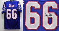 Buffalo Bills BILLY SHAW Signed/Autographed Home Jersey w/ HOF Insc. JSA COA