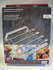 Xavax 111585 Grillspiess-set 5teilig Edelstahl Spießhalterung