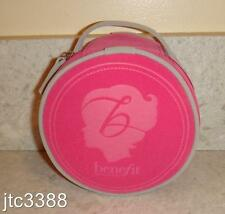 New Benefit Round Zip Cosmetic Makeup Bag ONLY