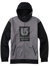 Burton Snowboard Bonded Fleece Hoodie Heather/Black mens 2X-Large New in package