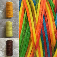 150D/1mm 50 Meters Long Flat Waxed Polyester Thread Jewelry String Leather Cord