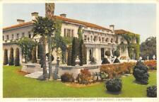 SAN MARINO, CA California HUNTINGTON LIBRARY & ART GALLERY Two c1930's Postcards