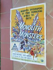 Original Australian One Sheet Monolith Monsters