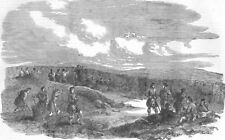 UKRAINE. Sevastopol-Highlanders & Sailors, Gun guns, antique print, 1854