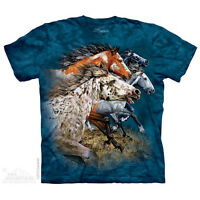 THE MOUNTAIN FIND 13 HORSES ANIMAL ZOO WILD FOREST NATURE PET T TEE SHIRT S-5XL