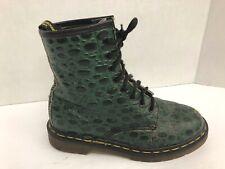Vintage Dr Martens US 6  Snake Skin Print Boots  UK4  Green