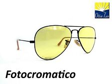 RAY BAN AVIATOR LARGE METAL 3025 90664A GIALLO FOTOCROMATICO 9066 4A Sunglass