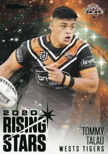 2021 NRL Traders Rising Stars Parallel Card Wests Tigers Tommy Talau RSP16