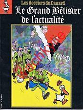 Les dossiers du canard n°34 du 12/1989 Le Grand bêtisier de l'actualité