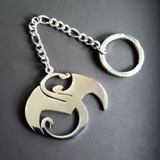 Large pendant strange music charm 2in tall stainless steel N9NE Key chain