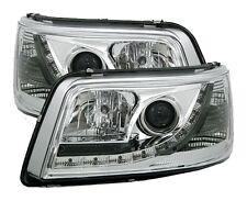 PHARES FEUX DEVIL EYES VW VOLKSWAGEN T5 2003-2009 BUS MULTIVAN AVANT CHROME LED