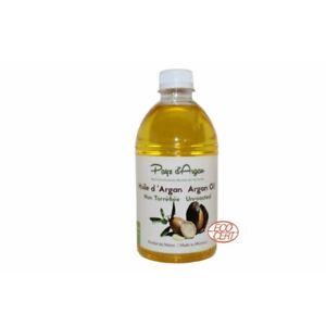 Huile d'argan biologique soin 500 ml Ecocert. Coopérative féminine marocaine