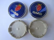 X4 SAAB ALLOY WHEEL CENTRE CENTER HUB CAPS TRIMS SET 63MM NEW 9-3 9-5 900 93 95
