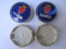 X4 SAAB ALLOY WHEEL CENTRE CENTER HUB CAPS TRIMS SET 63MM NEW 9-3 9-5 900 93 95